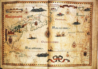First known map of Nova Scotia by Homem, 1558 (1Mb)