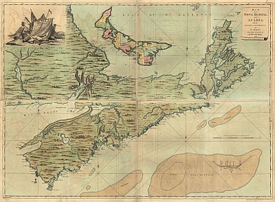 Map of Acadia 1768